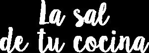 Texto la sal de tu cocina en blanco