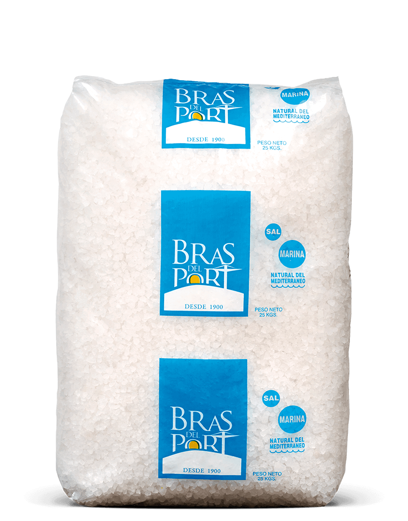 Paquete 25 kg sal gruesa Bras del Port