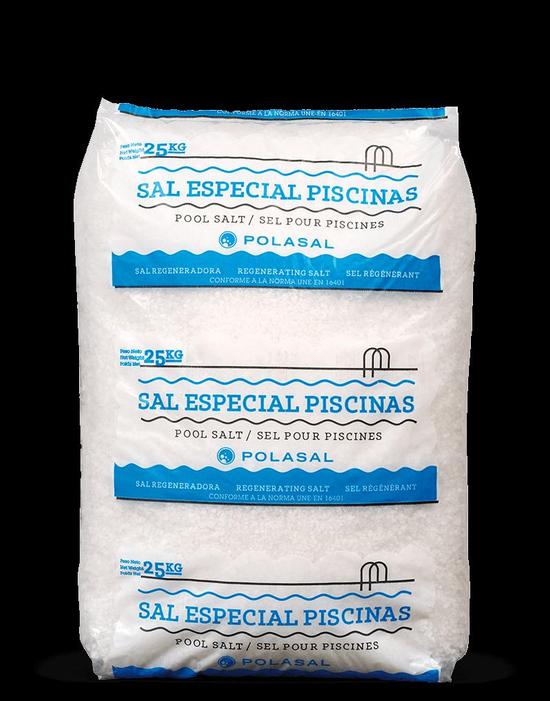 Paquete 25 kg sal especial piscinas Polasal