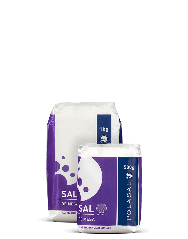 Paquete sal tipo 1 1kg y 500g Polasal