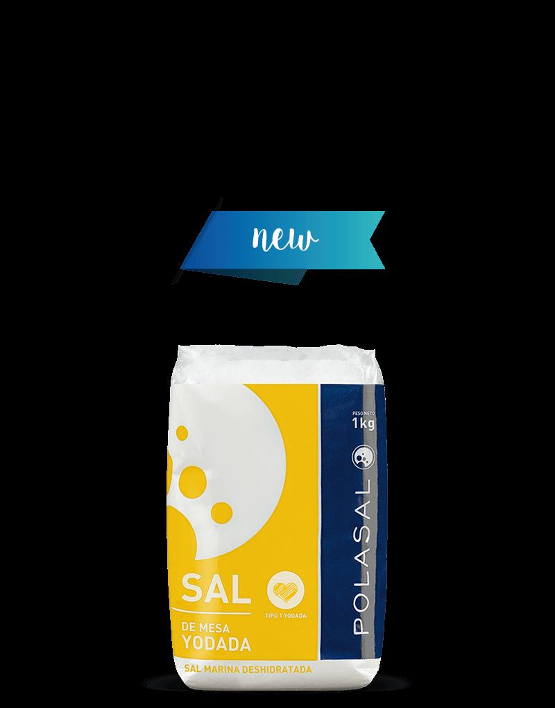 Paquete sal tipo 1 yodada 1kg Polasal