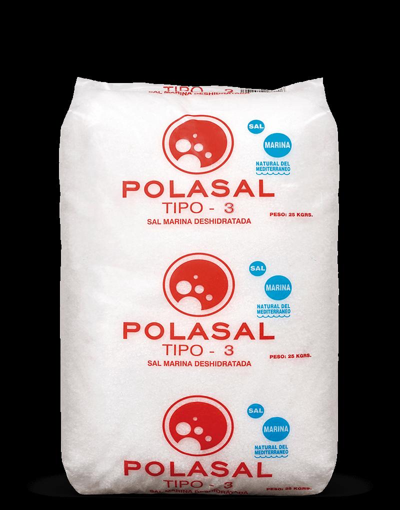 Paquete 25 kg sal Tipo 3 Polasal