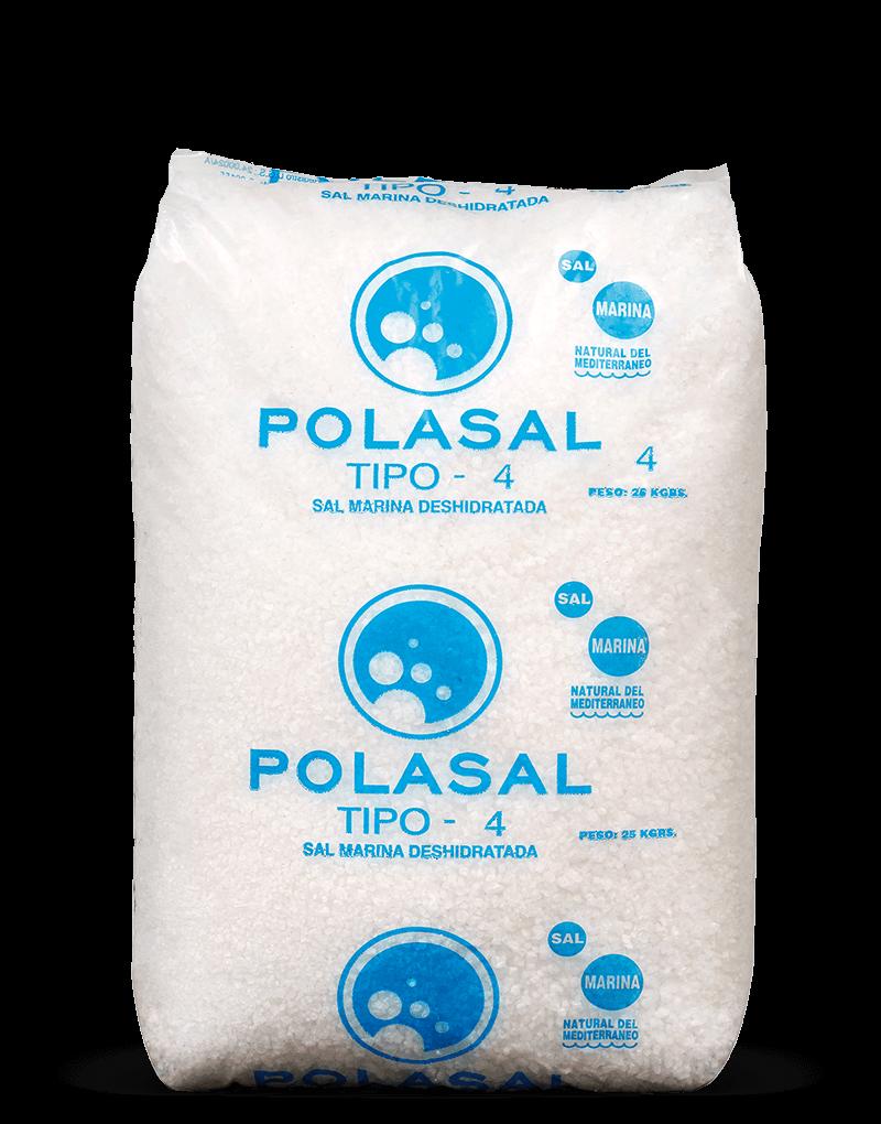 Paquete 25 kg sal tipo 4 Polasal