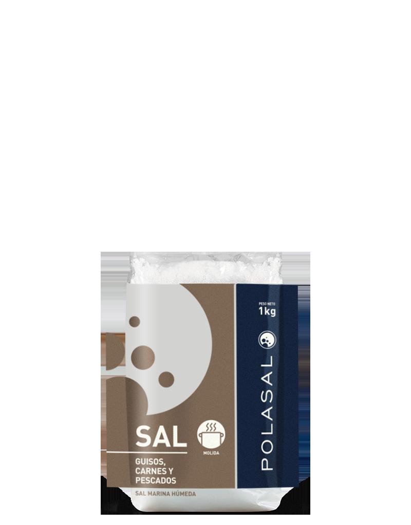 Paquete sal molida 1kg Polasal